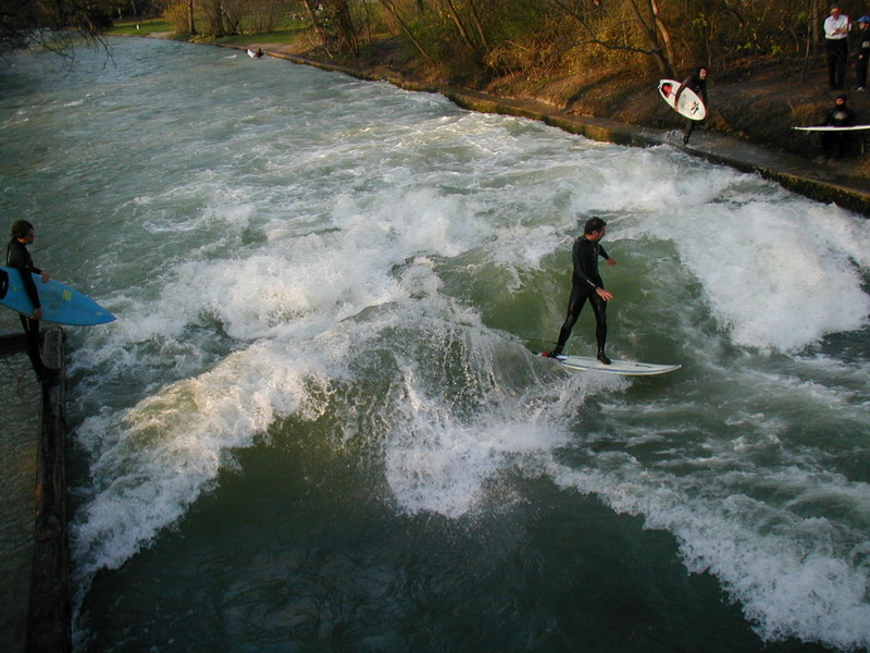 Eisbach, Germany river wave