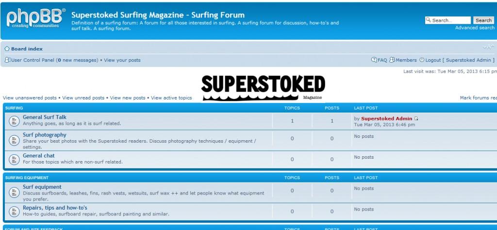 Surfing forum