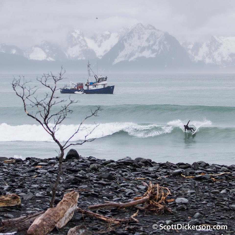 Surfing Alaska photo by Scott Dickerson
