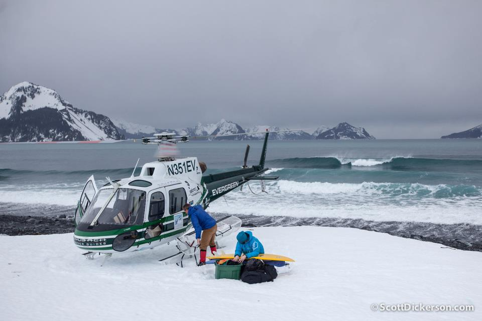 Helisurfing Alaska - by Scott Dickerson