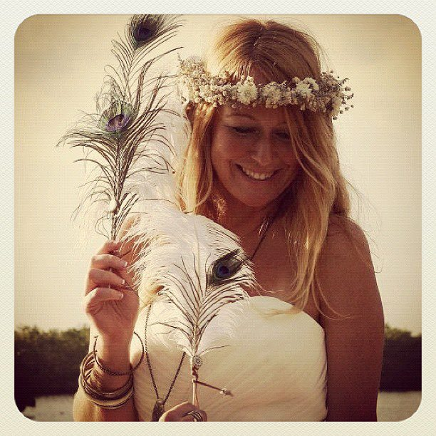 Siren Williams wedding attire