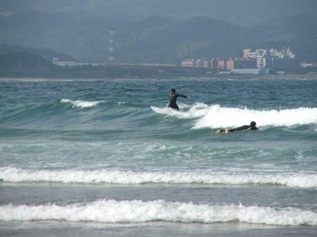 Surfing Fulong Beach, Taiwan