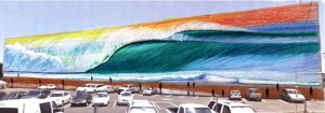 The biggest surf mural in the world - by Hilton Alves