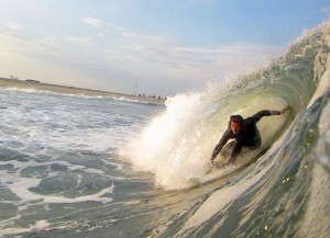 Brendan Tighe surfing Point Pleasant, New Jersey © Matthew Lang