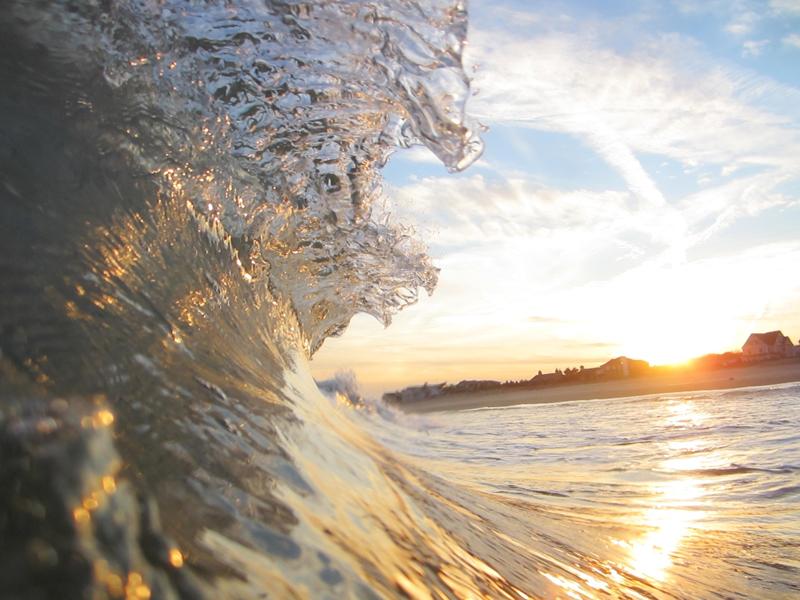 Surfing Seagirt, New Jersey - © Matthew Lang