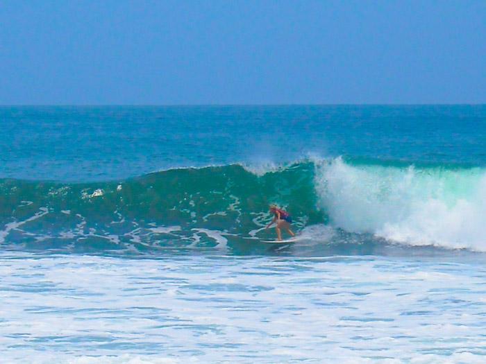 Surfing El Salvador.