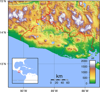 El Salvar - Topography map. Photo: Wikimedia Commons