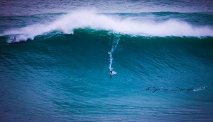 Andrew Cotton on a mighty wave