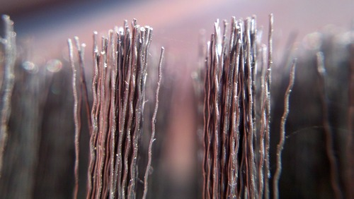 Steel grill brush macro - Photo credit T Small