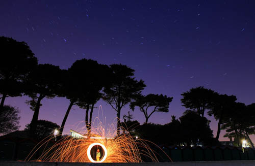 Night sky steel wool effect - by Nicole Lisa Photography