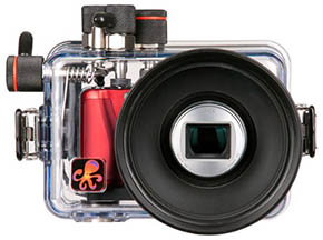Underwater camera housing for Panasonic Lumix TS20 - Photo Ikelite
