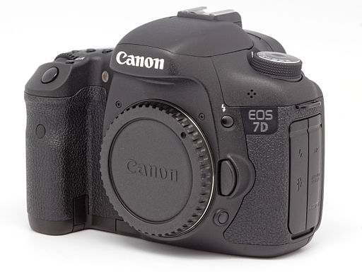 Photo of Canon EOS 7D - Photo credit WIkimedia