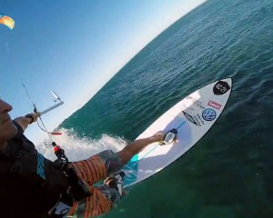 Kiteboarding with Port-Saint-Louis based Alex Caizergues.