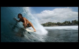 Surfing in Bali with Alex Knost and RVCA.