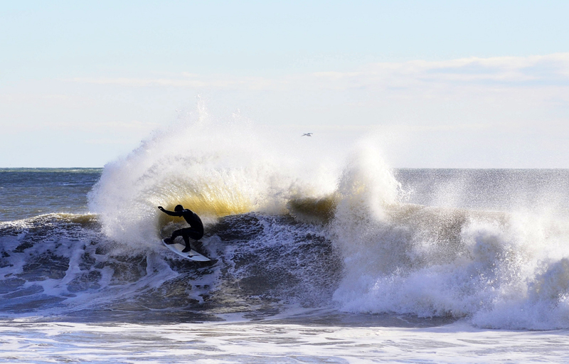 Al Pollioni with a wicked turn surfing Bayhead, New Jersey - © Matthew Lang