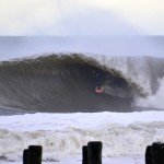Brian Robinson with a beautiful wave at Bayhead, New Jersey © Matthew Lang