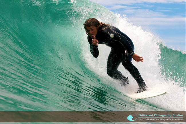 Brandon Clarke surfing Newport Beach, California. Photo by Driftwood photography.