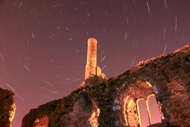 Long exposure star trails at the ruins. Nicole Lisa Photography.