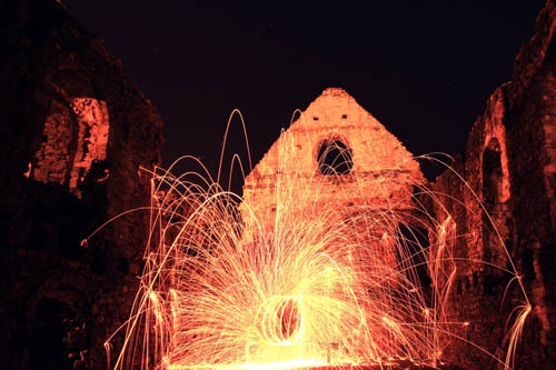 Ruins with steel wool photo effect - by Nicole Lisa Photography