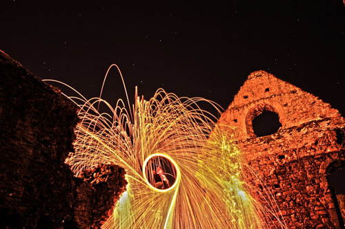 Steel wool at the ruins - by Nicole Lisa Photography