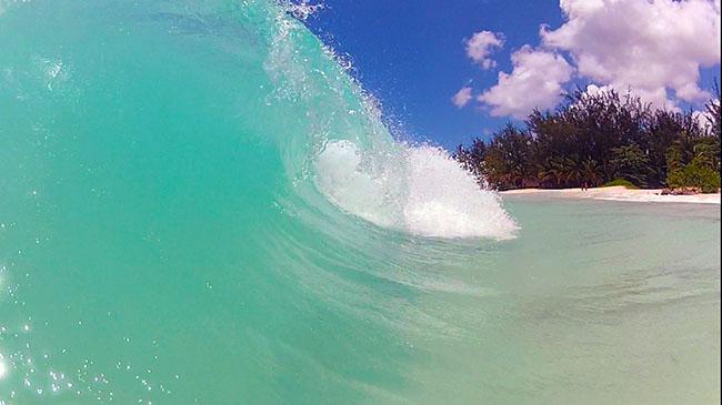 Surfing Maxwell Beach, South Coast Barbados