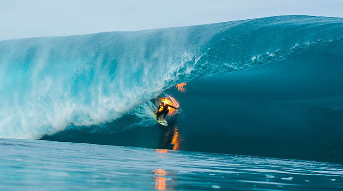 JOB surfing while on FIRE photo by Ben Thouard